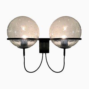 Vintage Wandlampe mit Glaskugeln von Franck Ligtelijn für Raak