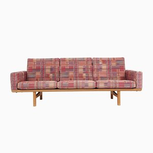 Vintage Model GE236 Oak 3-Seater Sofa by Hans J. Wegner for Getama