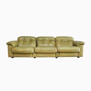 Canapé DS 101 Vintage Cuir Vert Olive de de Sede