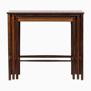 Tavolini a incastro in palissandro di Grete Jalk per P. Jeppesen, anni '50