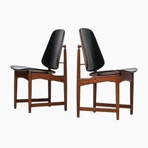 Chaises de Salle à Manger par Arne Hovmand Olsen pour Onsild Møbelfabrik, 1960s, Set de 8