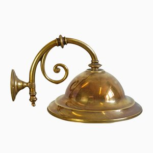 English Brass Wall Lamp, 1900s