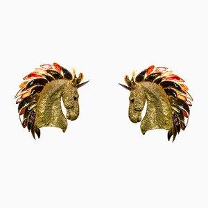 Vintage Horse Head Sconces by Isabelle Masson-Faure, Set of 2