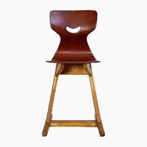Mid-Century FIF Klassenzimmer Stuhl von Adam Stegner für FIF Flötotto, 1960er