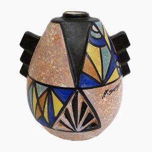 Art Deco Vase von Antoine Dubois für Bergen, 1920er
