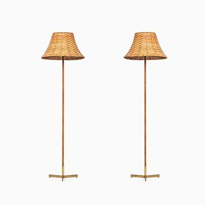 Model G-93 Floor Lamps by Hans-Agne Jakobsson, 1950s, Set of 2