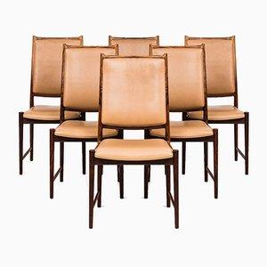 Chaises de Salle à Manger Darby par Torbjørn Afdal pour Nesjestranda Møbelfabrik, 1950s, Set de 6