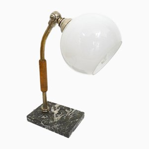 Vintage Desk Lamp with Opaline Glass Diffuser
