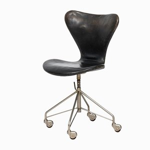 Chaise de Bureau Modèle 3117 par Arne Jacobsen pour Fritz Hansen, 1950s