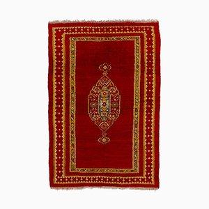 Türkischer handgeknüpfter Mohair Oushak Teppich, 1920er