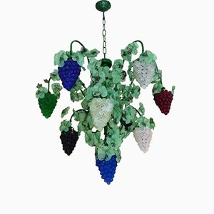 Murano Glass Grapes Chandelier from Cesare Toso, 1970s