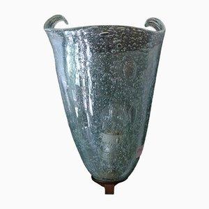 Lampada da parete in vetro di Murano di Avem, anni '50