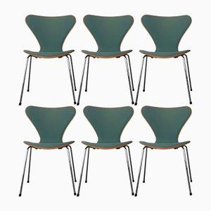 Chaises de Salle à Manger Modèle 3107 par Arne Jacobsen pour Fritz Hansen, 1989, Set de 6