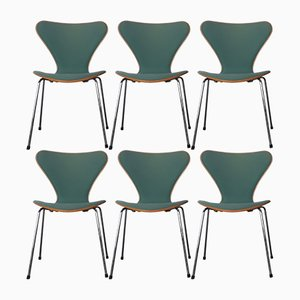 Model 3107 Dining Chairs by Arne Jacobsen for Fritz Hansen, 1989, Set of 6