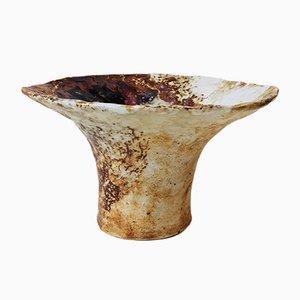 Jarrón Chanterelle vintage de cerámica policromo de Conny Walther, años 70