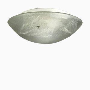 Plafoniere Glas Deckenlampe von Peill & Putzler, 1970er
