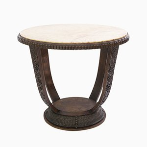 Art Deco French Table with Marble Top