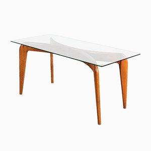 Cherry Wood Coffee Table by Giò Ponti for Fontana Arte, 1936