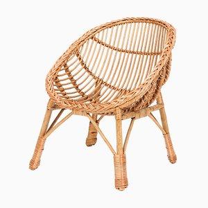 Italian Rattan Child's Chair, 1950s