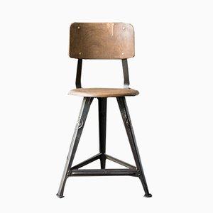 Industrieller Vintage Nr. 4 Chair mit Rückenlehne von Rowac