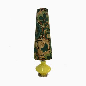 Lámpara de pie vintage de cristal de Murano con 2 luces, años 70