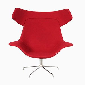 Red Oyster Lounge Chair by Michael Sodeau for Offecct, 2008