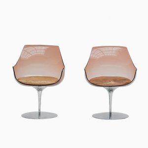 Sedie Champagne di Estelle & Erwine Laverne per Formes Nouvelles, anni '60, set di 2