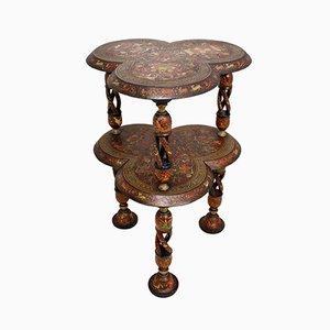 Table d'Appoint Antique Peinte