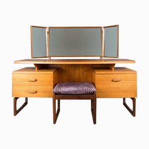 Quadrille Dressing Table with Stool from G-Plan, 1960s