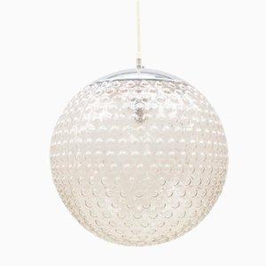 Lámpara grande esférica de cristal burbuja de Staff, años 70