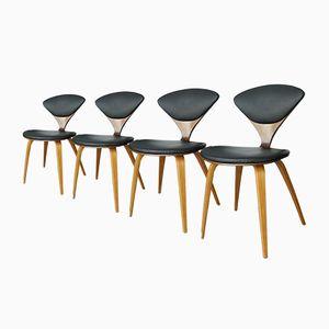 Vintage Schichtholz Stühle von Norman Cherner für Plycraft, 4er Set