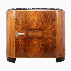 Art Deco Cabinet with Marble Top