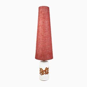 Italienische Vintage Stehlampe in Bambus Optik