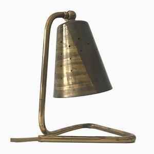 Schwedische Messing Tischlampe, 1950er