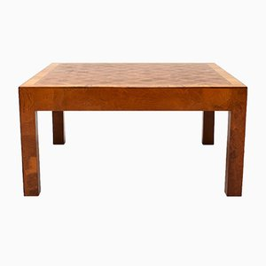Mid-Century Art Deco Burl Wood Coffee Table
