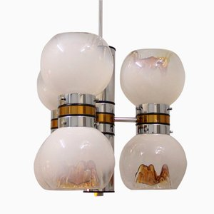 Mid-Century Space Age Murano Glass Chandelier from Mazzega