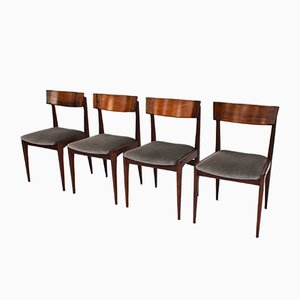 Mid-Century Brazilian Rosewood Dining Chairs, Set of 4