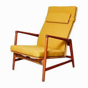 Mid-Century Reclining Armchair by Ib Kofod Larsen for Chr Jensen Haslev