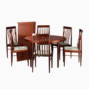 Vintage Dining Set in Veneered and Solid Mahogany by H.W. Klein for Bramin