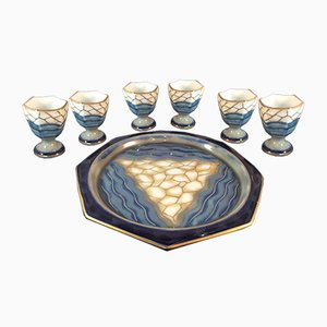 Vintage Egg Cups & Tray by Camille Tharaud