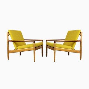 Vintage Eiche & Teak Sessel von Aksel Bender Madsen für Bovenkamp, 2er Set
