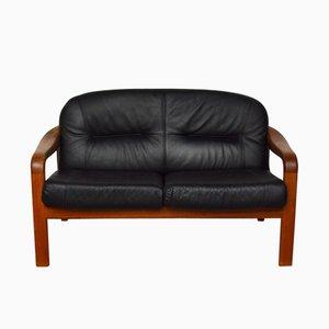 2-Sitzer Leder Sofa von Arne Wahl Iversen für Komfort, 1960er
