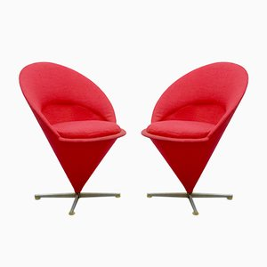 Cone K1 Chairs von Verner Panton für Plus-Linje, 1958, 2er Set