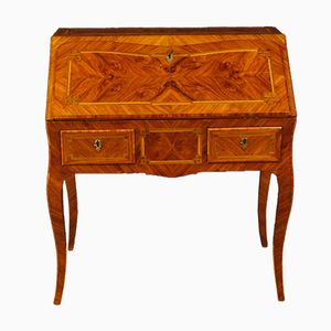 Vintage French Inlaid Wood Desk