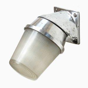Lámpara de pared vintage de vidrio estriado