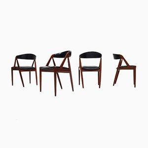 Modell 31 A-Frame Esszimmerstühle von Kai Kristiansen für Schou Andersen, 1960er, 4er Set