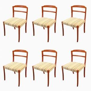 Teak Esszimmerstühle von Ole Wanscher, 1960er, 6er Set