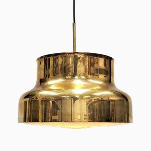 Lámpara colgante Bumling grande de latón de Anders Pehrson para Ateljé Lyktan, años 70