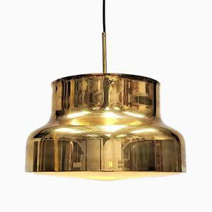 Large Bumling Brass Ceiling Pendant by Anders Pehrson for Ateljé Lyktan, 1970s