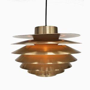 Lámpara colgante Verona grande de latón de Svend Middelboe para Nordisk Solar, años 70